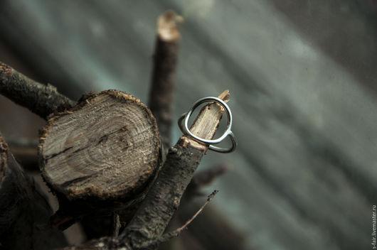 Кольца ручной работы. Ярмарка Мастеров - ручная работа. Купить Серебряное кольцо - круг. Handmade. Серебряный, коричневый, круг