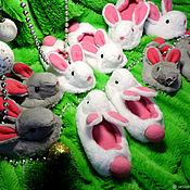 Обувь ручной работы handmade. Livemaster - original item Slippers-ballet bunnies. Handmade.