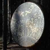 Музыкальные инструменты handmade. Livemaster - original item Three of the world. Drum leather. 35 cm.. Handmade.