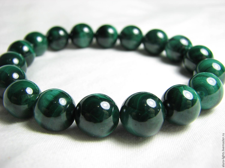 Bracelet malachite 'Mystery', Bead bracelet, Moscow,  Фото №1