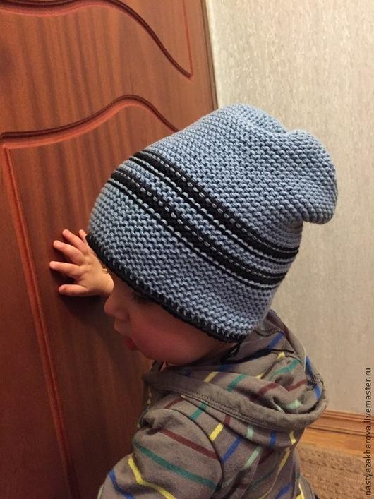 Шапки и шарфы ручной работы. Ярмарка Мастеров - ручная работа. Купить Шапочка для мальчика из хлопка. Handmade. Разноцветный, шапка