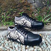 Обувь ручной работы handmade. Livemaster - original item Sneakers: Shoes made of genuine leather and Python skin. Handmade.