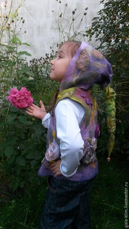 Children's felted vest 'primrose', Klimkin Galina, Vests, Losino-Petrovsky,  Фото №1