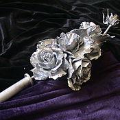Для дома и интерьера ручной работы. Ярмарка Мастеров - ручная работа Наконечники для карниза с розами из металла. Handmade.