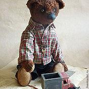 Куклы и игрушки ручной работы. Ярмарка Мастеров - ручная работа Мишка с грузовичком)). Handmade.