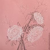 """Картины и панно ручной работы. Ярмарка Мастеров - ручная работа Картина """"Хризантемы"""" картина графика хризантемы флора. Handmade."""