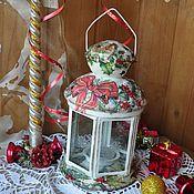Для дома и интерьера ручной работы. Ярмарка Мастеров - ручная работа новогодний фонарик. Handmade.
