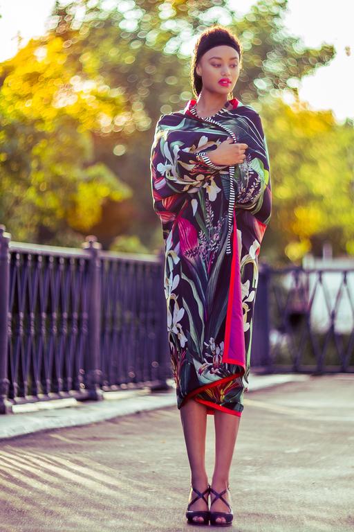 Пиджаки, жакеты ручной работы. Ярмарка Мастеров - ручная работа. Купить Шелковая накидка тропическая осень. Handmade. Разноцветный, кардиган