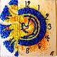 Clocks for Home handmade. Livemaster - handmade. Buy watch glass, fusing Honey Gaudi.Watch, glass, marine style