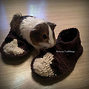 Обувь ручной работы handmade. Livemaster - original item Slippers with Guinea pigs