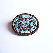Украшения handmade. Livemaster - original item brooch small Snegiri. Handmade.