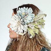 """Свадебный салон handmade. Livemaster - original item Цветочная повязка - ободок на голову """"Дивный сад"""" арт. 20VRG. Handmade."""