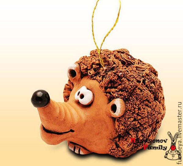 hedgehog Sebastian, a ceramic bell. the hedgehog out of clay, Kolokolchiki, Vladimir,  Фото №1