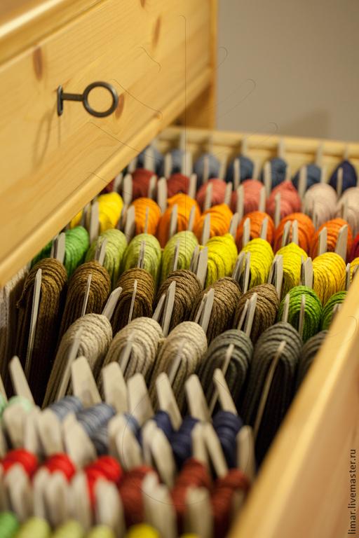 Шитье ручной работы. Ярмарка Мастеров - ручная работа. Купить Льняной плетеный шнур, 3 и 4 мм,  24 цвета. Handmade.