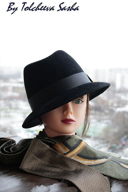 Шляпы ручной работы. Ярмарка Мастеров - ручная работа. Купить Шляпа для Папы :). Handmade. Черный, большой размер, подарок мужчине