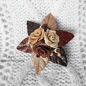 Украшения ручной работы. Ярмарка Мастеров - ручная работа Брошь - шоколадные розы.. Handmade.