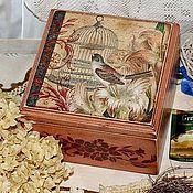 """Для дома и интерьера ручной работы. Ярмарка Мастеров - ручная работа """"Соловьиная песня""""Чайная коробка. Handmade."""
