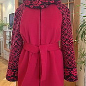 """Одежда ручной работы. Ярмарка Мастеров - ручная работа Полупальто  """" Красная роза..."""". Handmade."""