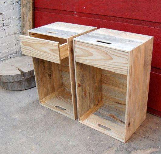 Мебель ручной работы. Ярмарка Мастеров - ручная работа. Купить Тумба из деревянного ящика. Handmade. Тумба, Мебель, мебель для спальни