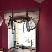 Curtains1 handmade. Livemaster - original item Linen curtains with garters-linen Curtains. Handmade.