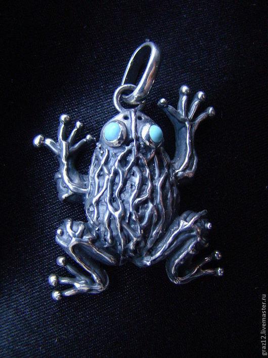 """Кулоны, подвески ручной работы. Ярмарка Мастеров - ручная работа. Купить Кулон """"Лягушка"""". Handmade. Серебро, серебряный, серебряная лягушка"""