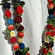 """Колье, бусы ручной работы. Ярмарка Мастеров - ручная работа. Купить Вязаные бусы """"Длинные и ягодные"""". Handmade. Вязание крючком"""