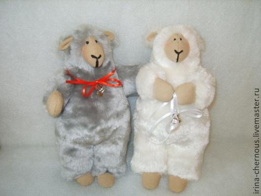 Игрушки животные, ручной работы. Ярмарка Мастеров - ручная работа. Купить Овечка. Handmade. Белый, овечка игрушка, подарок на новый год