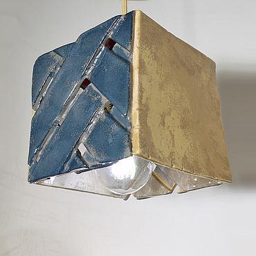 Освещение ручной работы. Ярмарка Мастеров - ручная работа Светильник Цветной куб. Handmade.
