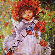 Картины и панно ручной работы. Ярмарка Мастеров - ручная работа Ангел с маками. Handmade.
