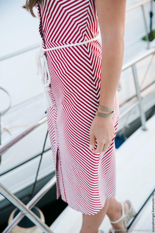 9f5929c5059f69f Ярмарка Платья ручной работы. Платье в красно-белую полоску. Oxana Krengel.