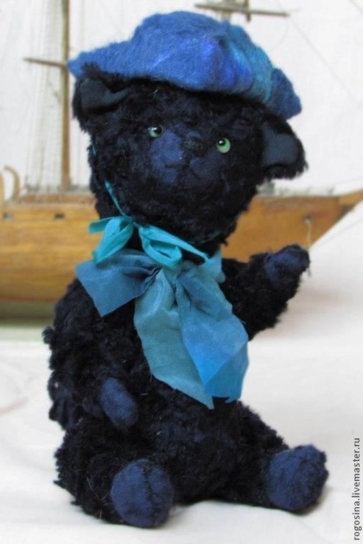 Мишки Тедди ручной работы. Ярмарка Мастеров - ручная работа. Купить Тедди Кот Томас 21 см. Handmade. Черный