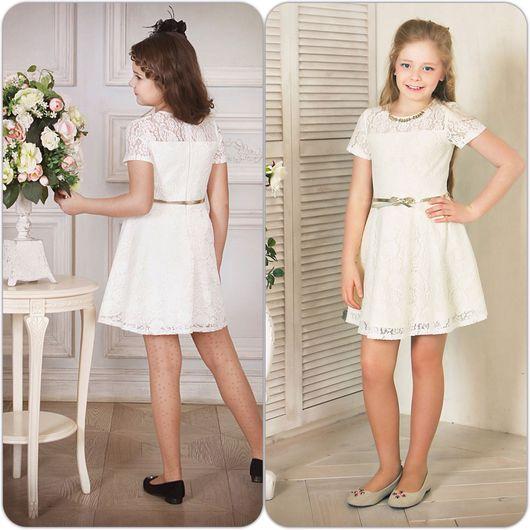 """Одежда для девочек, ручной работы. Ярмарка Мастеров - ручная работа. Купить Нарядное платье для девочки """"Кокетка"""" (айвори -75). Handmade."""