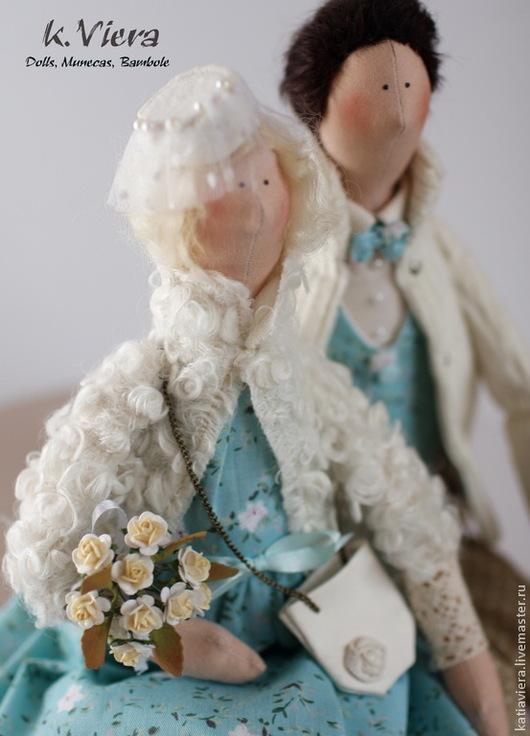 Куклы Тильда ручной работы, влюбленная пара,Тильда, Тильда семья, подарки ручной работы, портретная кукла, handmade, K.Viera, Ярмарка Мастеров