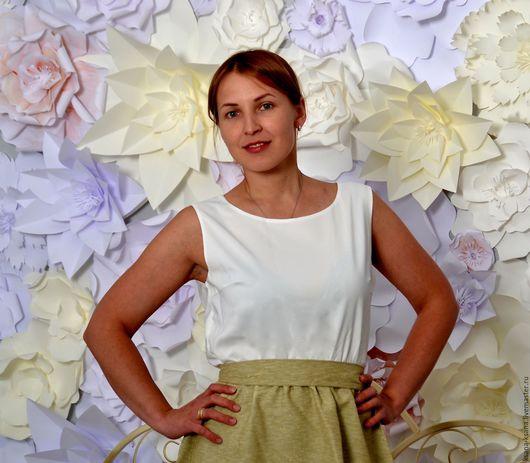 Платья ручной работы. Ярмарка Мастеров - ручная работа. Купить Платье Белое Золото. Handmade. Комбинированный, платье на каждый день