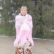 """Аксессуары ручной работы. Ярмарка Мастеров - ручная работа Шаль нежнейшего розового цвета """"Танец маленьких хризантем"""". Handmade."""