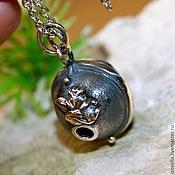 """Подвеска ручной работы. Ярмарка Мастеров - ручная работа Подвеска """"Око Вселенной"""" -  хризолит, серебро 925. Handmade."""