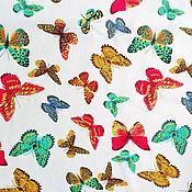 Материалы для творчества ручной работы. Ярмарка Мастеров - ручная работа Штапель вискозный Бабочки. Handmade.