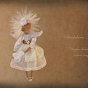 """Куклы и игрушки ручной работы. Ярмарка Мастеров - ручная работа """"Ангел воздушный"""" - авторская кофейная куколка. Handmade."""