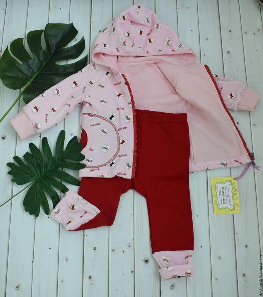 """Одежда для девочек, ручной работы. Ярмарка Мастеров - ручная работа. Купить Комплект для девочки кофта и штаны """"Мишка Тедди"""". Handmade."""