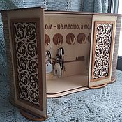 Для дома и интерьера handmade. Livemaster - original item Key holder Carved chest. Handmade.