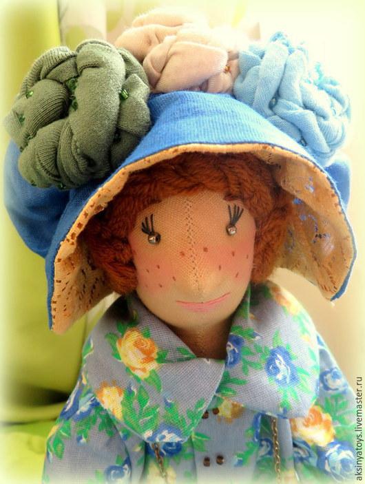 Коллекционные куклы ручной работы. Ярмарка Мастеров - ручная работа. Купить Кукла текстильная Камилла.. Handmade. Синий, подарок учительнице