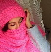 Аксессуары ручной работы. Ярмарка Мастеров - ручная работа шапка и шарф из мохера. Handmade.
