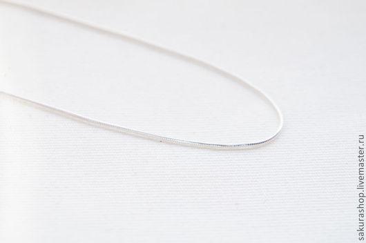 Для украшений ручной работы. Ярмарка Мастеров - ручная работа. Купить Цепочка из серебра плетение змейка 45 см. Handmade.