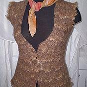 Одежда ручной работы. Ярмарка Мастеров - ручная работа Жилет валяный   в ЭКО стиле (флис ). Handmade.