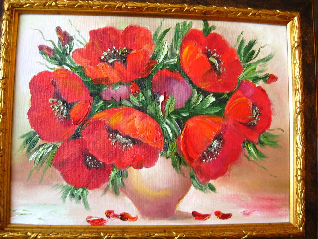 Фото картины с цветами