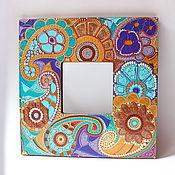 Для дома и интерьера ручной работы. Ярмарка Мастеров - ручная работа Интерьерное зеркало с пейслийским орнаментом.. Handmade.