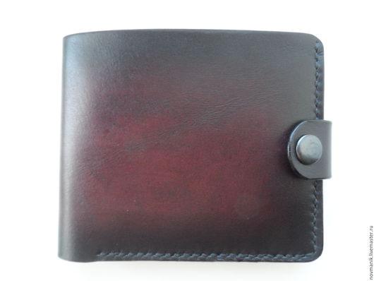Кошельки и визитницы ручной работы. Ярмарка Мастеров - ручная работа. Купить Портмоне (кошелек, бумажник) двойного сложения (Bi-fold wallet) № 14.. Handmade.