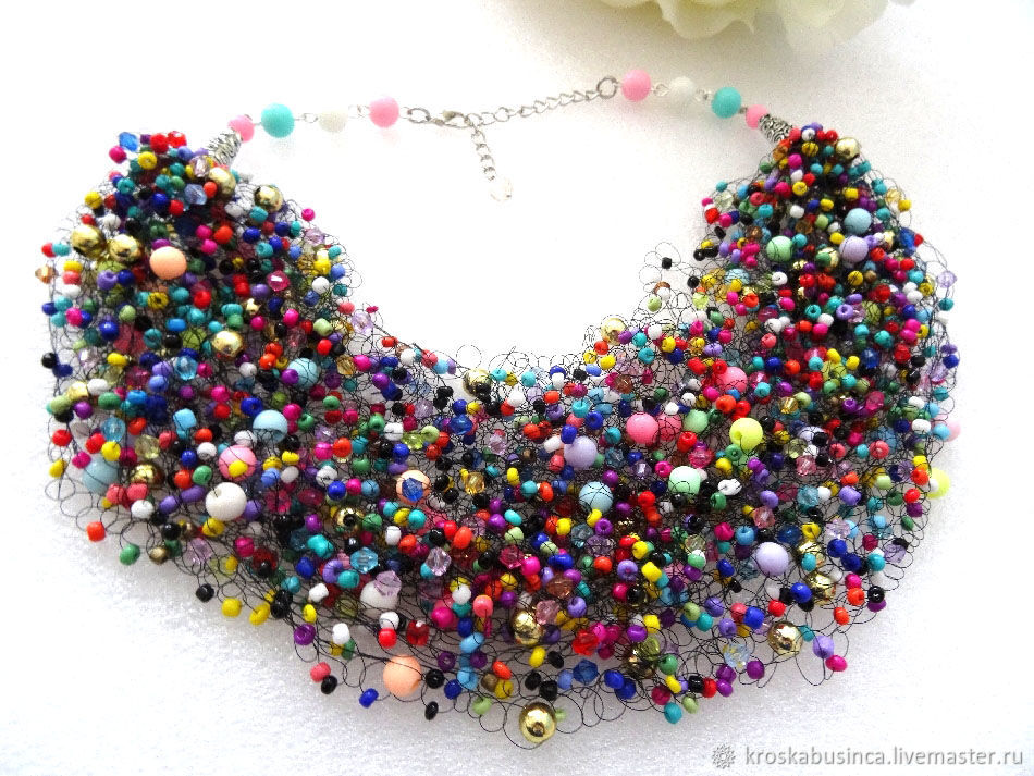 Beads necklace air Flash -2, Necklace, Novocheboksarsk,  Фото №1