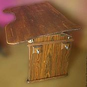 Для дома и интерьера ручной работы. Ярмарка Мастеров - ручная работа Темная парта из дерева. Handmade.