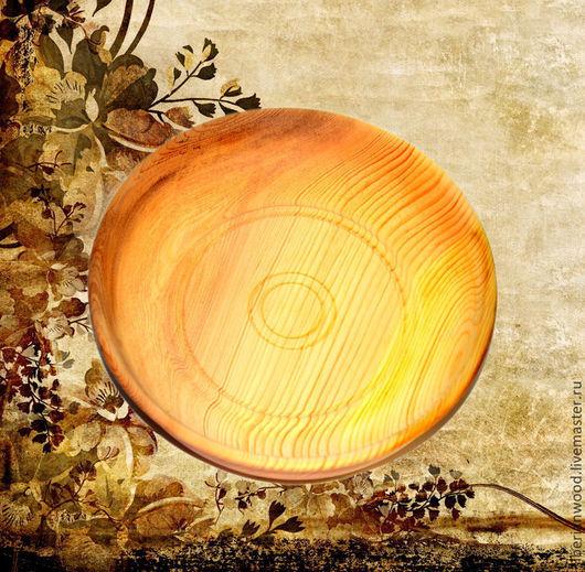 Тарелки ручной работы. Ярмарка Мастеров - ручная работа. Купить Кедровая тарелка 25см, Блюдо из сибирского кедра - ручная работа т11. Handmade.